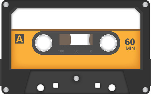casette tape (orange)