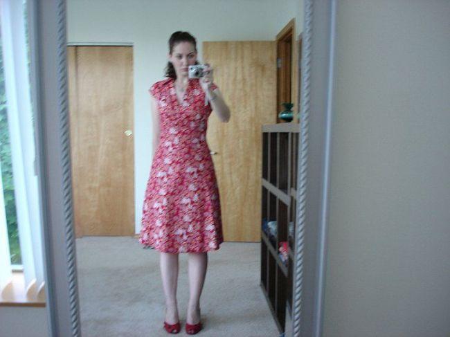 red benetton dress