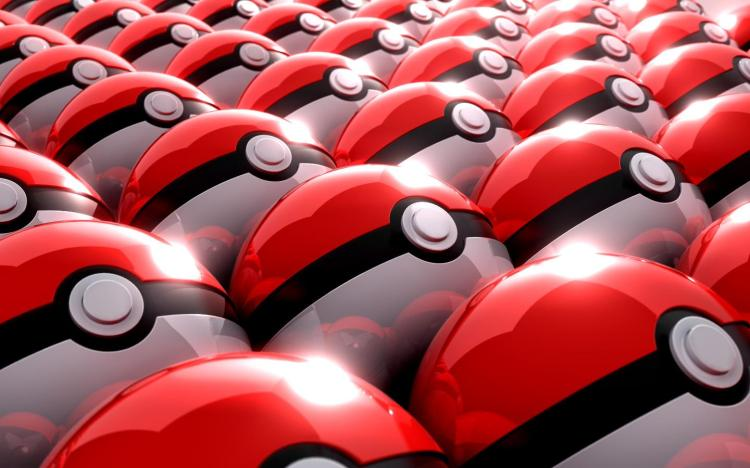 pokeballs organized