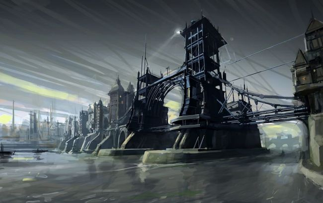dishonored dunwall bridge 01