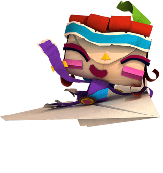 tearaway unfolded atoi on paper airplane