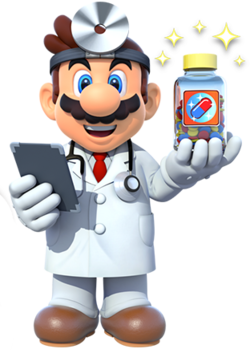 dr. mario with pills png