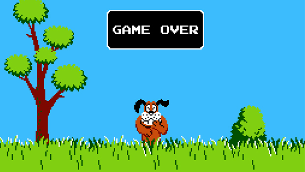 duck hunt game over
