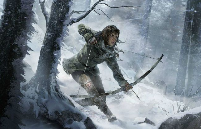 rise of the tomb raider (snow and bow)