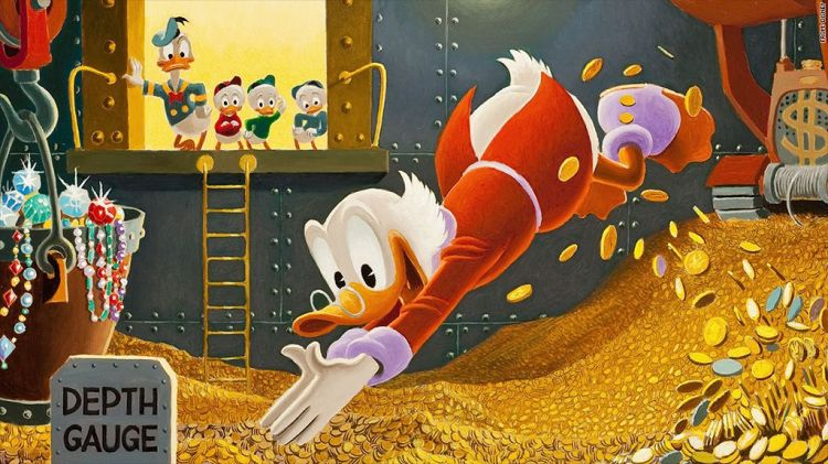 scrooge mcduck diving