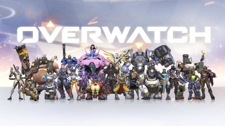 overwatch heroes and logo