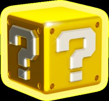 3d question block shiny png