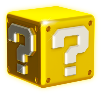 3d question block shiny png