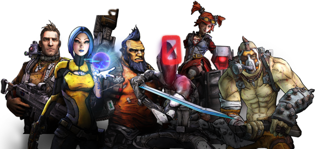 borderlands 2 characters png