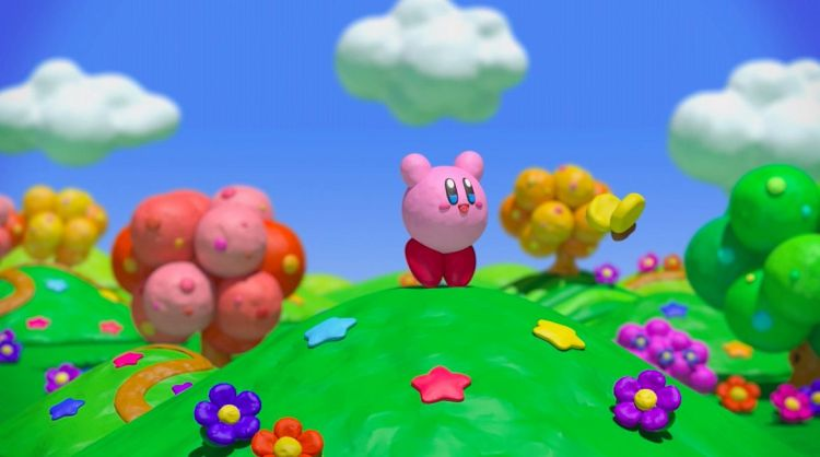 super happy claymation kirby