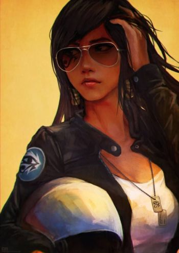 pharah fan art aviator
