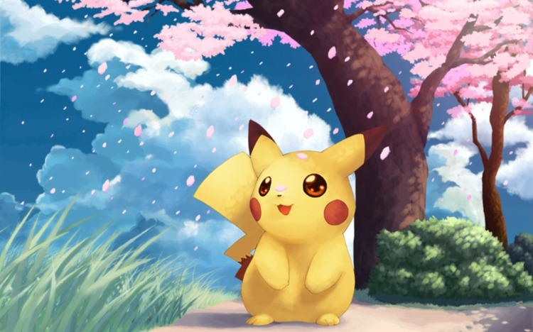 pikachu-cherry-blossoms